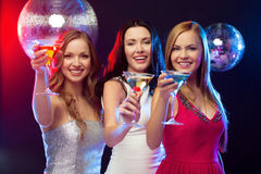 three-smiling-women-cocktails-disco-ball-new-year-celebration-friends-bachelorette-party-birthday-concept-evening-35132086